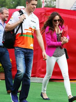 Paul di Resta, Sahara Force India F1 et Laura Jordan