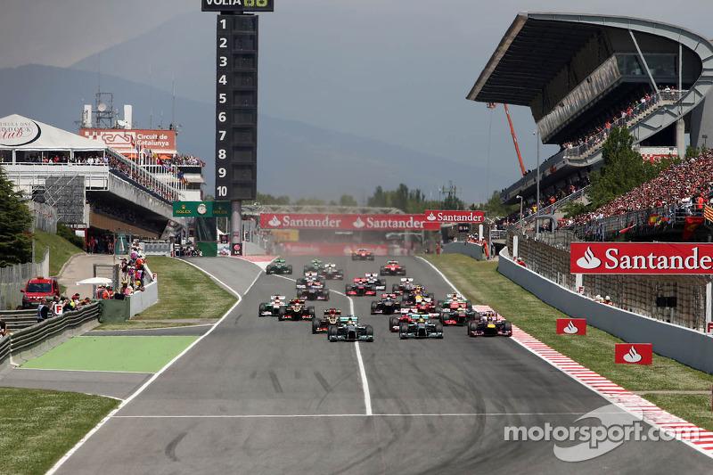 Start of race, Nico Rosberg, Mercedes GP