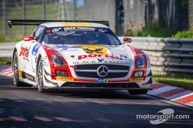 #9 Black Falcon Mercedes-Benz SLS AMG GT3 (SP9): Bernd Schneider, Jeroen Bleekemolen, Sean Edwards,