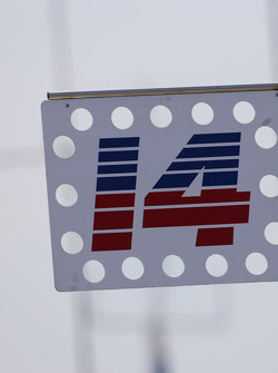 A.J. Foyt Enterprises pit sign for Takuma Sato