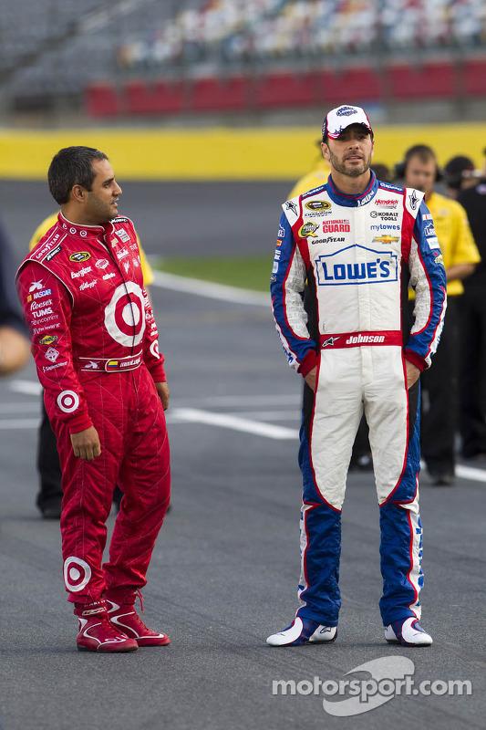 Juan Pablo Montoya en Jimmie Johnson