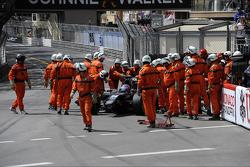 Start of the race, Crash, Rene Binder