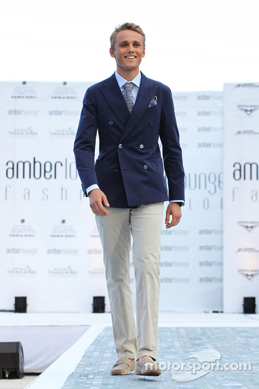 Max Chilton, Marussia F1 Team no Amber Lounge Fashion Show