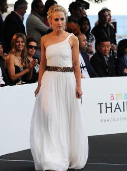 Jennifer Beck, namorada de Adrian Sutil Adrian Sutil, Sahara Force India F1, no lançamento da Amber Fashion Show