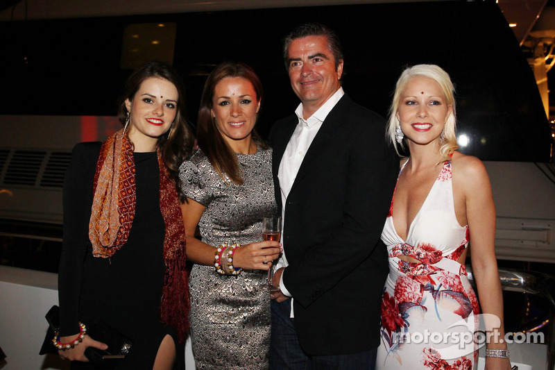 Natalie Pinkham, Sky Sports Presenter and Andy Stevenson, Sahara Force India F1 Team Manager at the Signature F1 Monaco Party