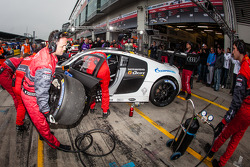 Pit stop for #3 Phoenix Racing Audi R8 LMS ultra (SP9): Frank Biela, Christer Jöns, Luca Ludwig, Roman Rusinov