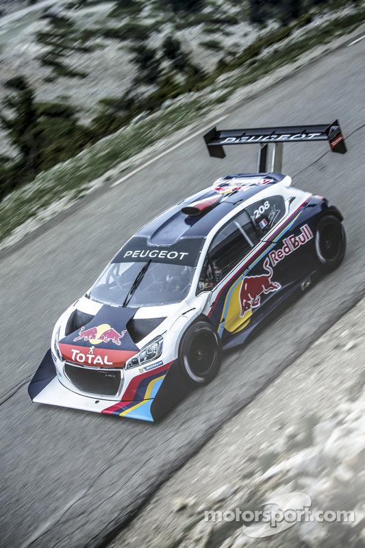 Sébastien Loeb test de Peugeot 208 T16 Pikes Peak op de Mont Ventoux