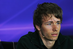 Charles Pic, Caterham bij de FIA-persconferentie