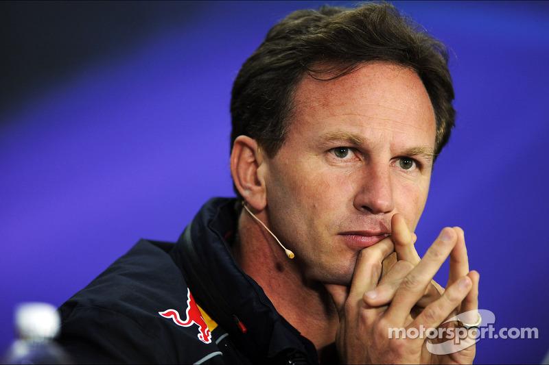 Christian Horner, Teambaas Red Bull Racing bij de FIA-persconferentie
