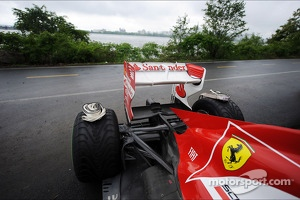 Ferrari F138 of Felipe Massa, Ferrari after he crashed during qualifying