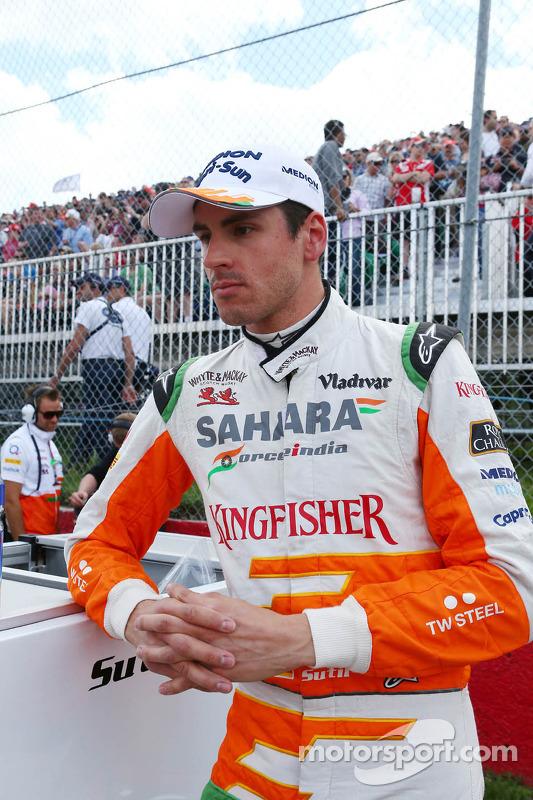 Adrian Sutil, Sahara Force India F1 on the grid
