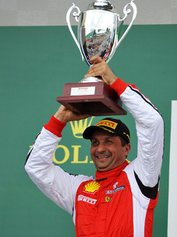 Trofeo Pirelli podium: second place #8 Ferrari of Fort Lauderdale