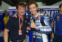 Actor Sean Penn with Valentino Rossi, Yamaha Factory Racing