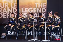 Nicolas Prost, Nick Heidfeld, Neel Jani, Congfu Cheng, Andrea Belicchi and Mathias Beche
