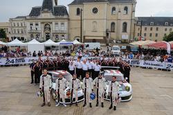 #91 Porsche AG Team Manthey Porsche 991 RSR: Jörg Bergmeister, Patrick Pilet, Timo Bernhard, #92 Porsche AG Team Manthey Porsche 991 RSR: Marc Lieb, Richard Lietz, Romain Dumas