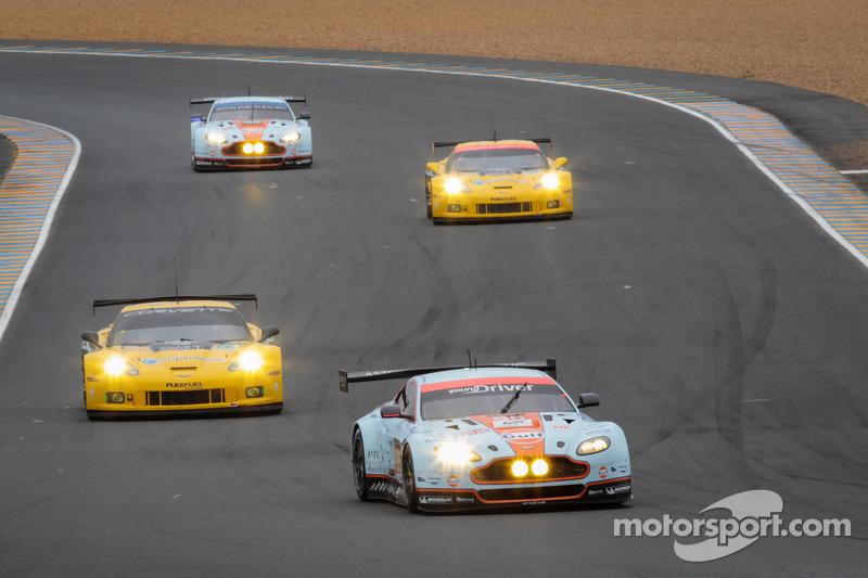#95 Aston Martin Racing Aston Martin Vantage GTE: Allan Simonsen, Christoffer Nygaard, Kristian Poulsen in de laatste ronde