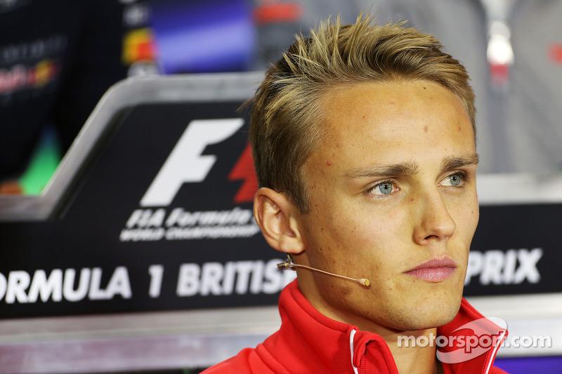 Max Chilton, Marussia F1 Team in the FIA Press Conference.