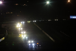 Safety car out at night