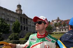 City parade, Tiago Monteiro, Honda Civic Super 2000 TC, Honda Racing Team Jas