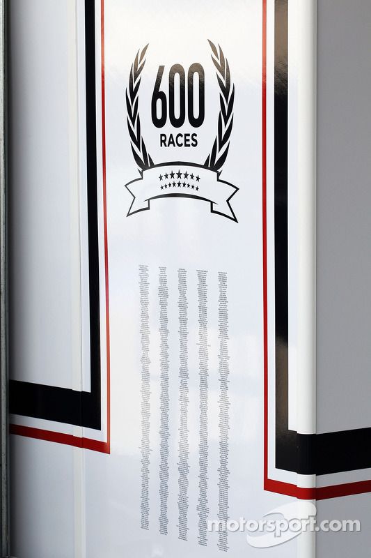 Williams celebra 600 GPs