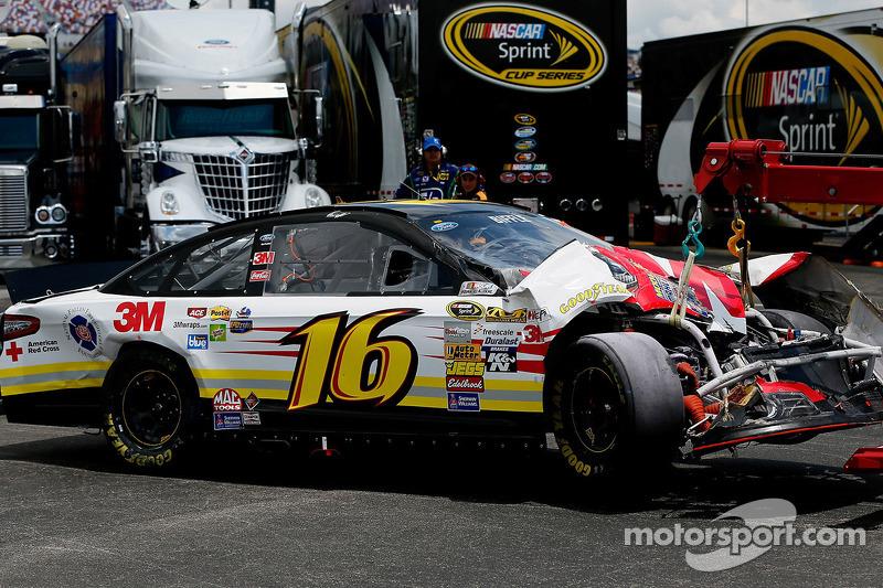 Schade voor Greg Biffle, Roush Fenway Racing Ford