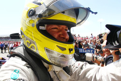 Race winner Nico Rosberg Mercedes AMG F1 celebrates in parc ferme