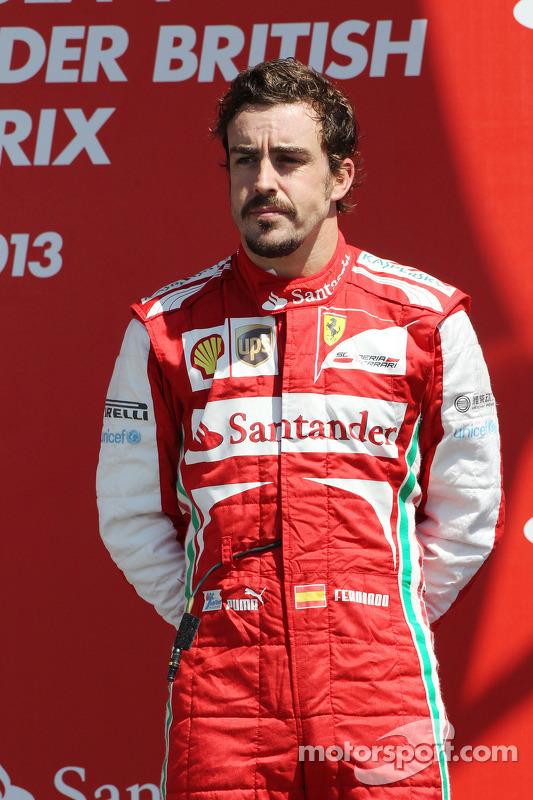 Fernando Alonso Ferrari no pódio