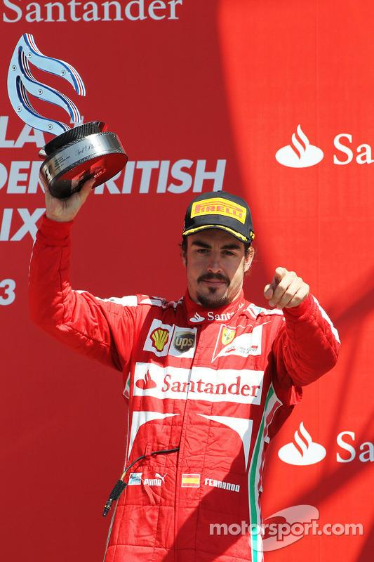 Fernando Alonso, Ferrari celebra sua terceira colocação no pódio