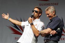 Jenson Button McLaren and Tony Jardine at the post race concert
