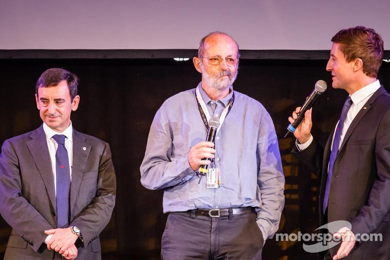 ACO President François Fillon, Henri Pescarolo en MC Bruno Vandestick