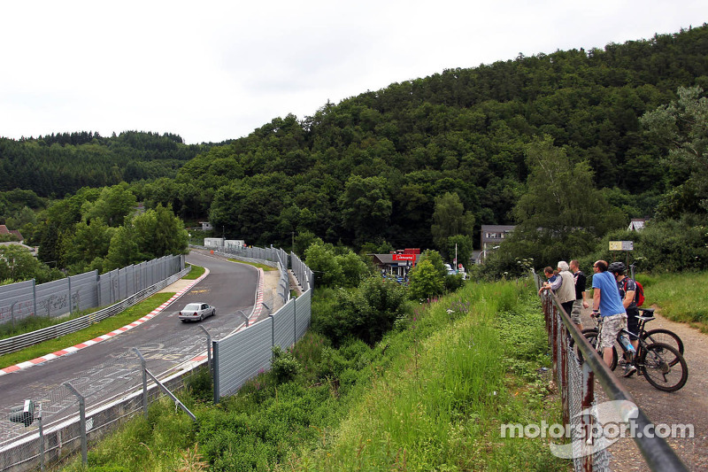 Cars run on the Nordschleife