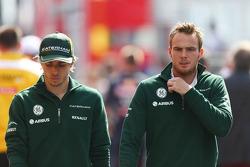 (L to R): Charles Pic, Caterham with Giedo van der Garde, Caterham F1 Team
