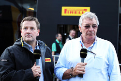 (L to R): Paul Hembery, Pirelli Motorsport Director with Gary Anderson, BBC Sport Expert Analyst