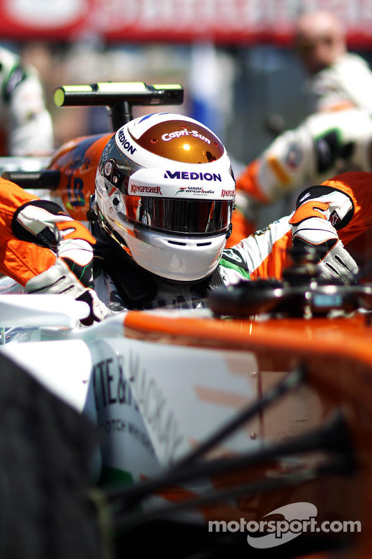 Adrian Sutil, Sahara Force India VJM06, no grid