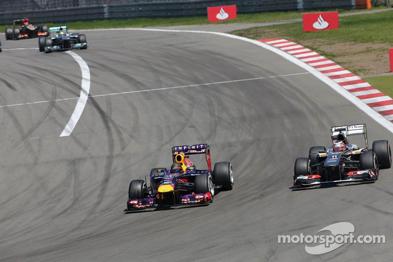 Sebastian Vettel, Red Bull Racing and Nico Hulkenberg, Sauber F1 Team Formula One team