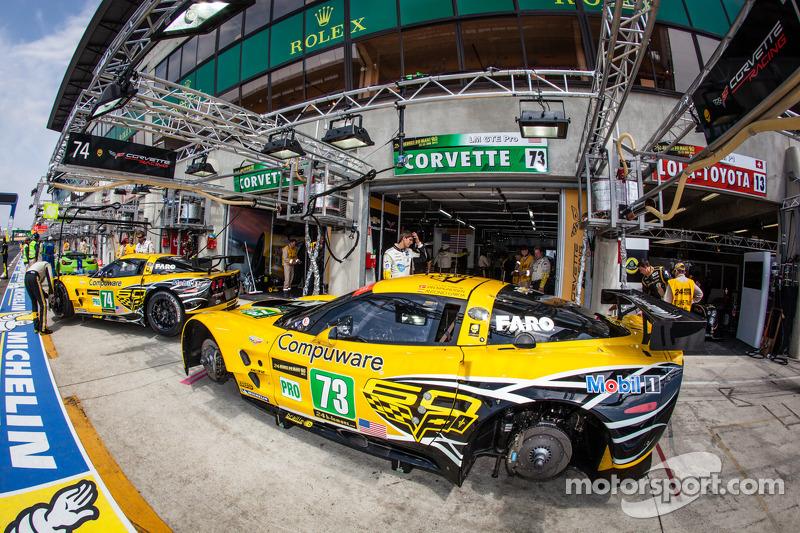 Corvette Racing pits
