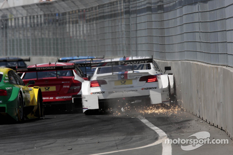De crash van Martin Tomczyk, BMW Team RMG BMW M3 DTM
