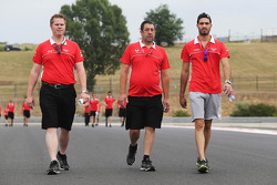 Tio Ellinas, Marussia Manor Racing GP3 Driver, walks the circuit