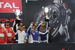 Pro-Am podium: second place Kiriil Ladygin, Viktor Shaitar, Luca Persiani, Mika Salo