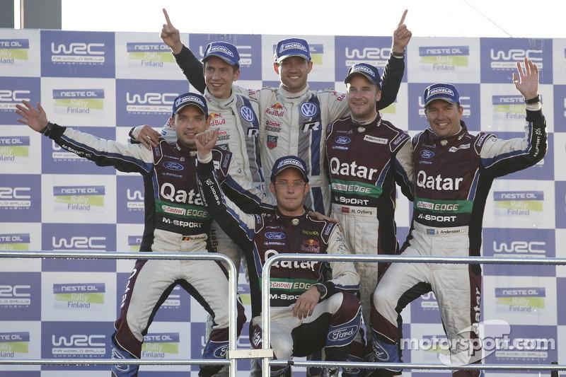 Winnaars Sébastien Ogier en Julien Ingrassia, Volkswagen Polo WRC, Volkswagen Motorsport, 2e plaats