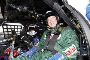 ARU CEO Bill Pulver rides with Will Davison
