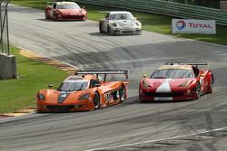 #4 8Star Motorsports Corvette DP: Emilio Di Guida, Sébastien Bourdais #63 Scuderia Corsa Ferrari 458: Leh Keen, Alessandro Balzan