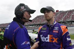 Denny Hamlin, Joe Gibbs Racing Toyota and Michael Wheeler