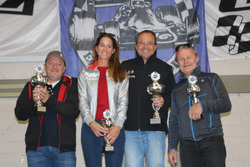 Walter Reho, Janine Wyssen, Sylvain Burkhalter, Lukas Desserich, podium Abarth