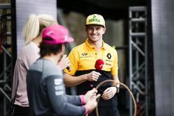 Nico Hulkenberg, Renault Sport F1 Team, on stage