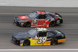 Ryan Sieg, RSS Racing Chevrolet and Christopher Bell, Joe Gibbs Racing Toyota