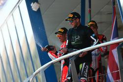 Podium: Marco Melandri, Ducati Team, Jonathan Rea, Kawasaki Racing