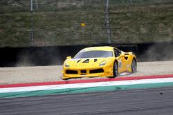 #433 Ferrari North America Ferrari 488: Michael Fassbender in the gravel