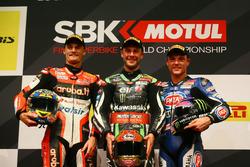 Podium: 1. Jonathan Rea, Kawasaki Racing; 2. Chaz Davies, Ducati Team; 3. Alex Lowes, Pata Yamaha