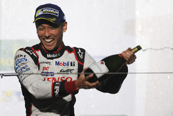 Podium: race winner Kazuki Nakajima, Toyota Gazoo Racing